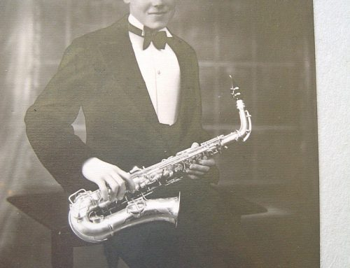 RSB as saxophone player in a local jazz band – early 1930's