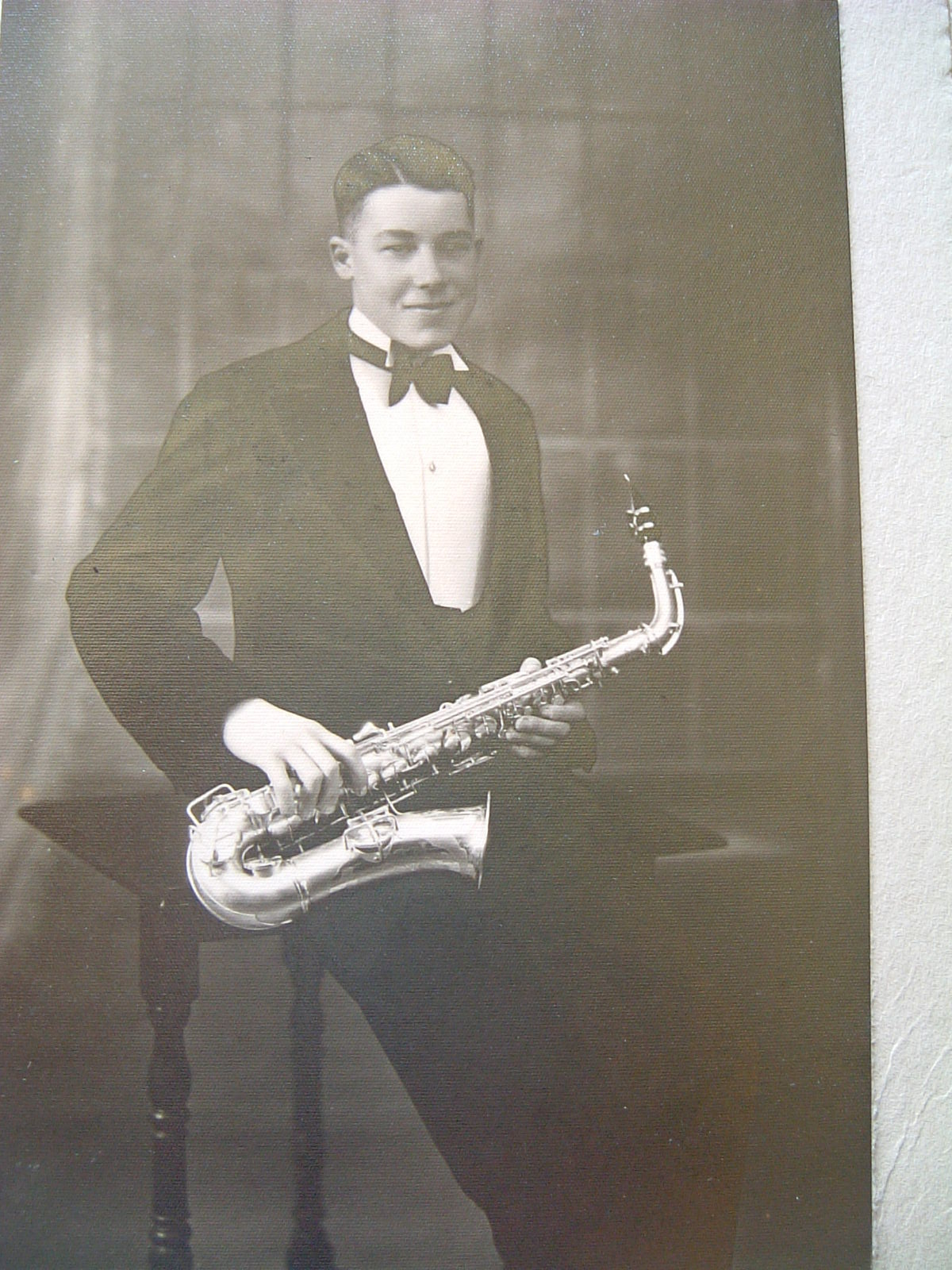 RSB as saxophone player in a local jazz band - early 1930s